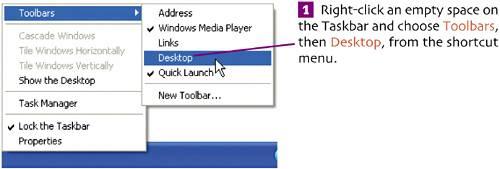 how to add taskbar icons to desktop