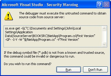 Set Up a Source Server | Debugging Microsoft  NET 2 0