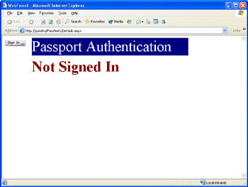 Passport Authentication | Security for Microsoft Visual
