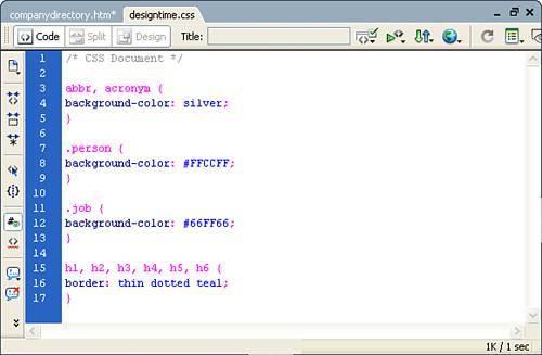 how to create a css stylesheet in dreamweaver cs6