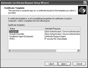 Administering the cryptographic settings development figure 74 choose the automatic certificate request settings entry yelopaper Image collections