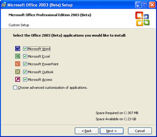 The Office 2003 Installation Process | First Look Microsoft Office 2003