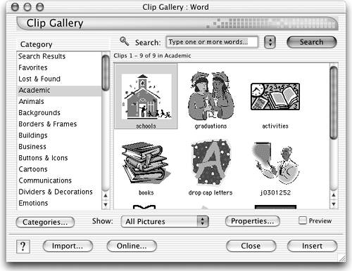 using microsoft office clip art keynote 2 for mac os x visual rh flylib com Microsoft Office Clip Art Collection Microsoft Office Clip Art Drinking Water